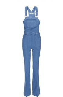 Приталенный джинсовый комбинезон с накладными карманами Stella McCartney