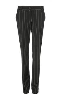 Прямые шерстяные брюки в полоску Kiton