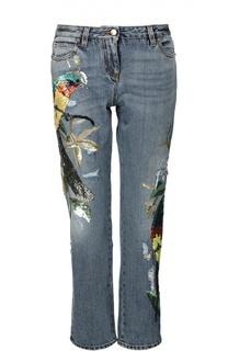 Прямые джинсы с пайетками Roberto Cavalli