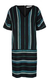 Вязаное прямое платье с V-образным вырезом Gerard Darel