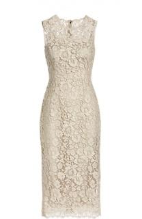 Приталенное кружевное платье Dolce & Gabbana