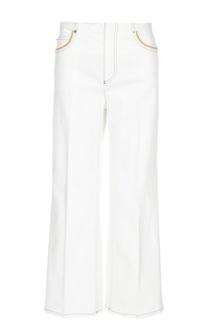 Широкие джинсы с контрастной отделкой Sonia Rykiel