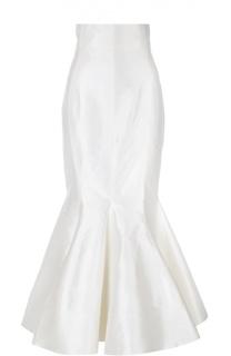 Шелковая юбка-годе Alessandra Rich