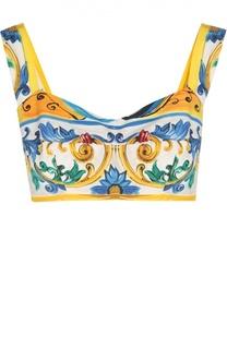 Топ-бюстье с ярким принтом Dolce & Gabbana