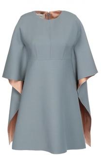 Мини-платье с завышенной талией и кейпом Valentino