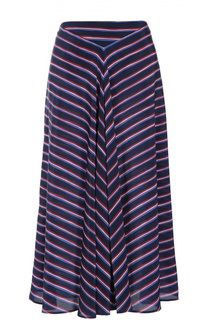 Шелковая юбка-миди в контрастную полоску Altuzarra
