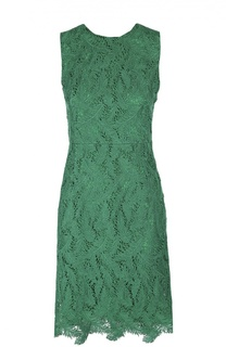 Приталенное кружевное платье без рукавов с круглым вырезом Emilio Pucci