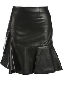 Кожаная юбка Alexander McQueen