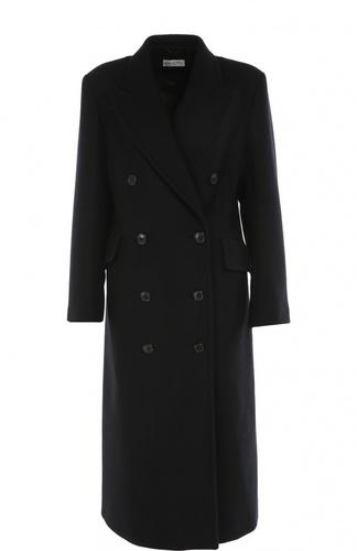 Двубортное удлиненное пальто прямого кроя Dries Van Noten