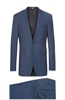 Шерстяной приталенный костюм Burberry