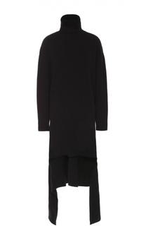Вязаное платье асимметричного кроя с высоким воротником Balenciaga