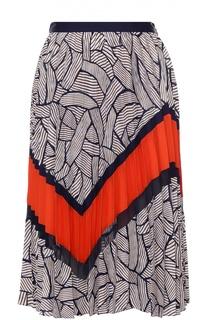 Плиссированная юбка-миди с ярким принтом Diane Von Furstenberg