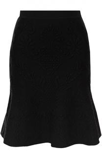 Мини-юбка с фактурной отделкой Alexander McQueen