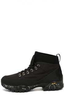 Текстильные ботинки Loutreck на подошве с принтом Premiata
