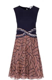 Приталенное платье без рукавов с ярким принтом Diane Von Furstenberg