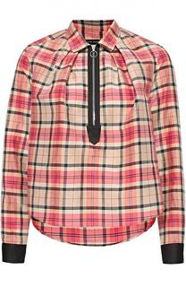 Укороченная блуза в клетку Isabel Marant