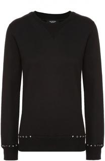 Пуловер с круглым вырезом и шипами Valentino