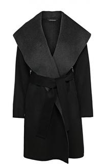 Шерстяное пальто с поясом и широкими лацканами Diane Von Furstenberg