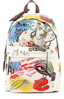 Рюкзак с ярким принтом и металлическим декором Marc Jacobs