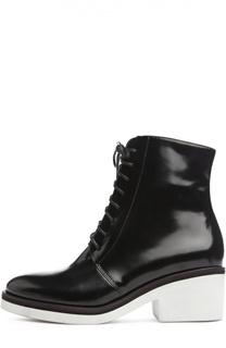 Лаковые ботинки на контрастной подошве 87 Vic Matie