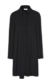 Платье свободного кроя с воротником-аскот Chloé