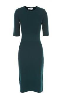 Облегающее платье-миди с разрезами HUGO