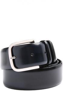 Кожаный ремень с полированной пряжкой Orciani