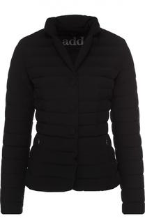 Укороченная стеганая куртка с воротником-стойкой Add