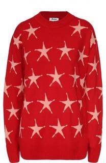Пуловер со спущенным рукавом и принтом в виде звезд Acne Studios