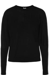 Шерстяной пуловер свободного кроя с круглым вырезом Kenzo
