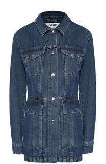 Удлиненная джинсовая куртка с накладными карманами Acne Studios
