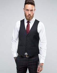 Черный приталенный жилет Harry Brown - Красный