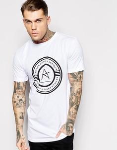 Удлиненная футболка с логотипом Antioch - Белый