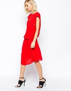 Платье с драпировкой Gestuz Delilah - Красный
