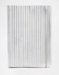 Портфолио с серебристой обложкой из переработанной кожи Undercover A4 - Серебряный