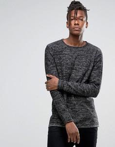 Джемпер из крученой шерсти с круглым вырезом Troy - Черный