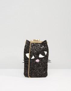 Сумка через плечо с блестками и отделкой Lulu Guinness Ellie - Черный