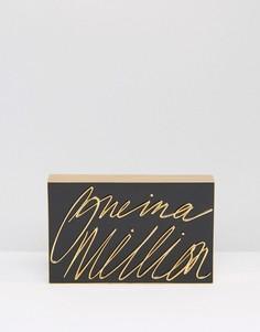Клатч с 3-D надписью One In A Million Lulu Guinness - Черный