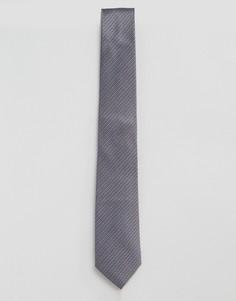 Темно-серый галстук в строгом стиле с красным принтом Penguin - Серый