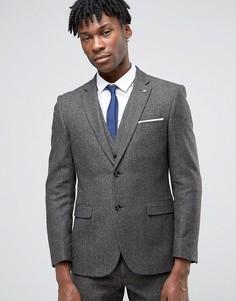 Коричневый пиджак с шевронным узором Penguin - Коричневый