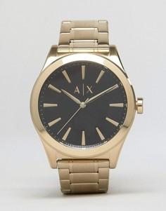 Золотистые часы-браслет из нержавеющей стали Armani Exchange AX2328 - Золотой