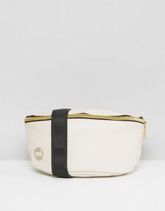 Кремовая сумка-кошелек на пояс с мятым эффектом Mi-Pac - Кремовый