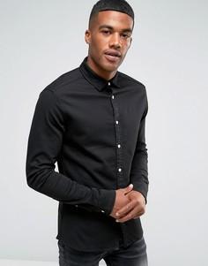 Черная джинсовая рубашка скинни ASOS - Черный