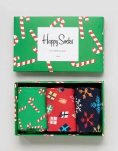 Подарочный набор на Рождество из 3 пар носков Happy Socks - Мульти