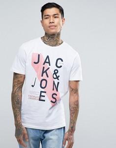 Футболка с логотипом Jack & Jones - Белый
