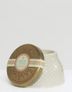 Свеча с ароматом вербены в баночке-шкатулке Aspen Bay Oakmoss - Бесцветный