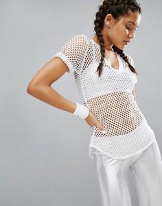 Белая сетчатая футболка Haute Body - Белый
