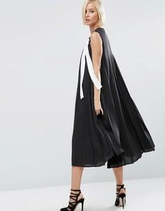 Платье миди в складку ASOS WHITE - Мульти