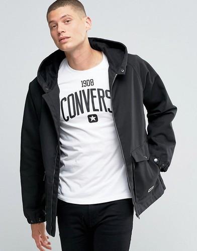 Черная куртка с капюшоном Converse 10001185-A03 - Черный