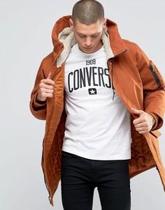 Парка с капюшоном Converse 10001185-A05 - Коричневый